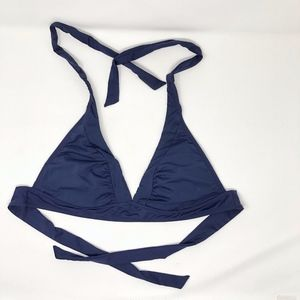 Athleta Shirrendipity Halter Bikini Top M Navy